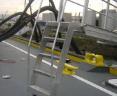 marine gangway with guard rails