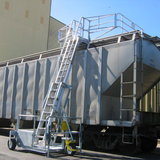 mobile loading fall protection system